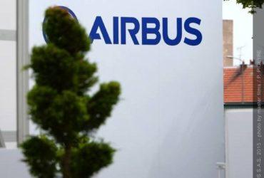 Une façade du siège social d'Airbus à Blagnac (Toulouse)