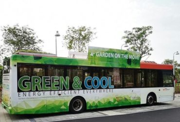 Un des bus « Garden on the move »,