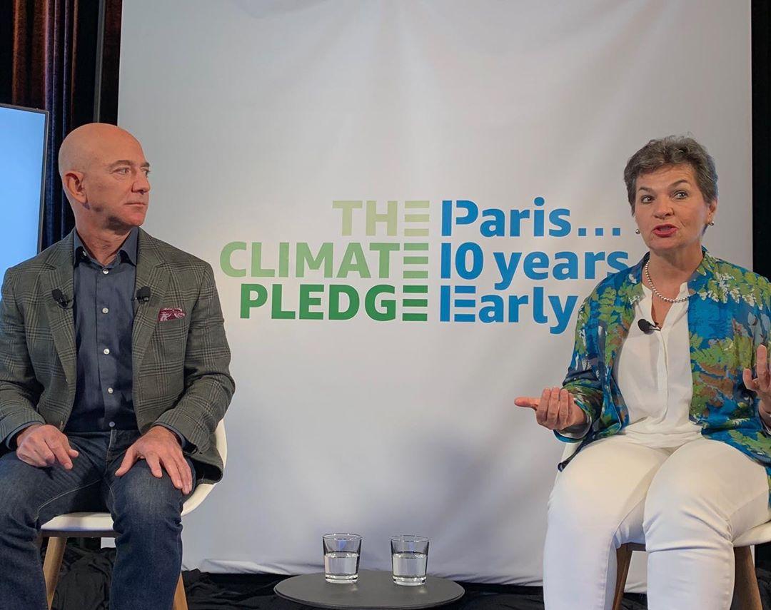 Jeff Bezos, lors du Climate Pledge 2019.