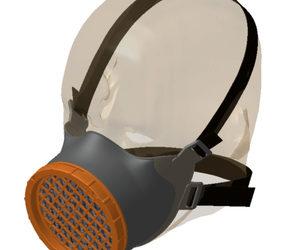 Le masque OCOV du collectif grénoblois VOC-Cov (Volonté d'Organiser Contre le Covid-19).