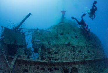 Le sous-marin britannique HMS Perseus au fond de la mer Ionienne (Photo Facebook de l'ONG Ghost Diving)