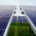 Une installation d'énergie solaire pour la production d'électricité verte